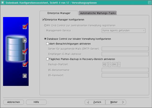 Datenbankkonfiguration Schritt 5