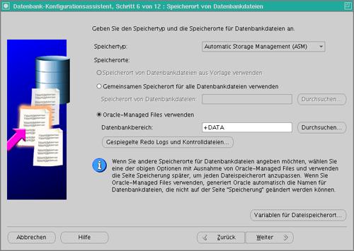 Datenbankkonfiguration Schritt 7
