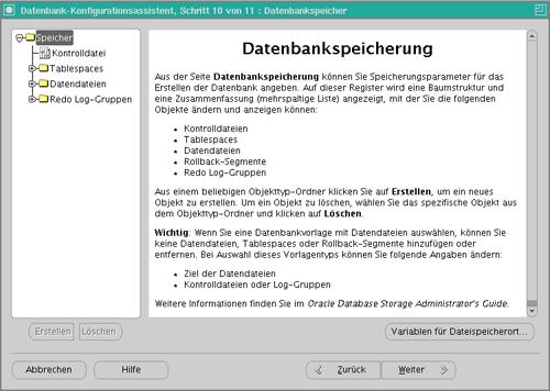 Datenbankkonfiguration Schritt 11