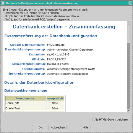 Datenbankkonfiguration Schritt 13