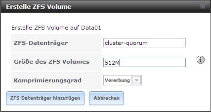ZFS Volume
