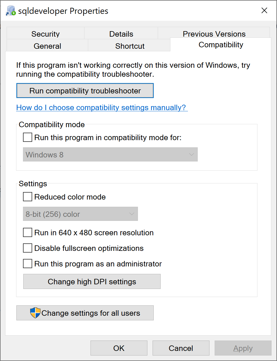Running SQL Developer on High DPI Screens – DBA Blog